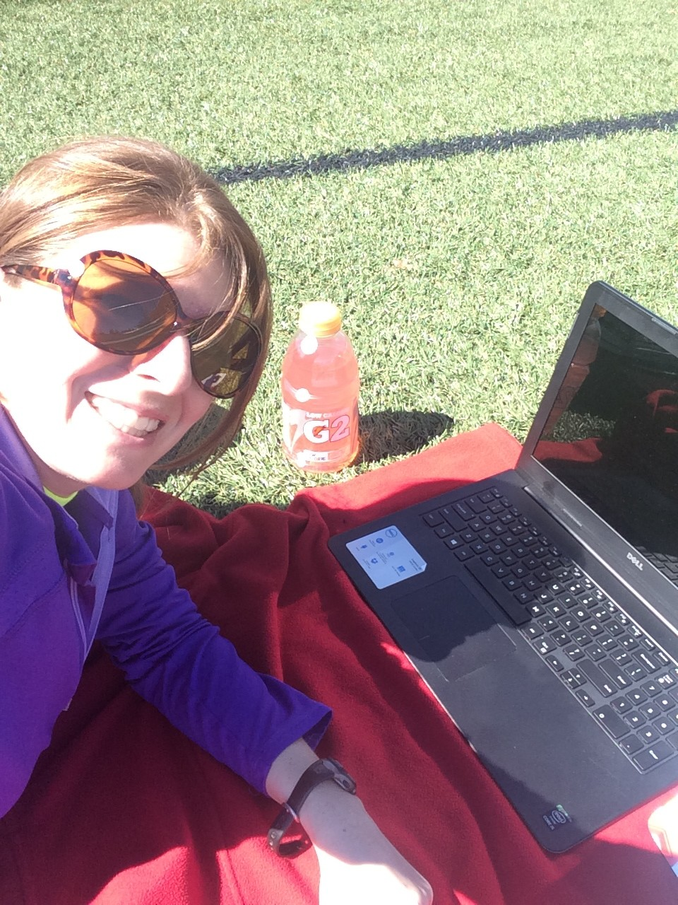 Working in the sunshine