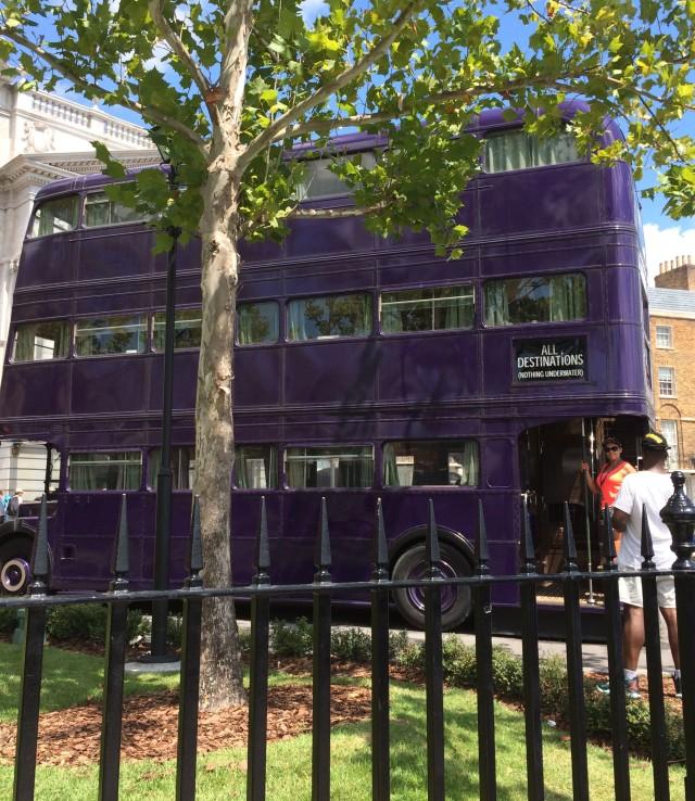 Knight Bus at Harry Potter World