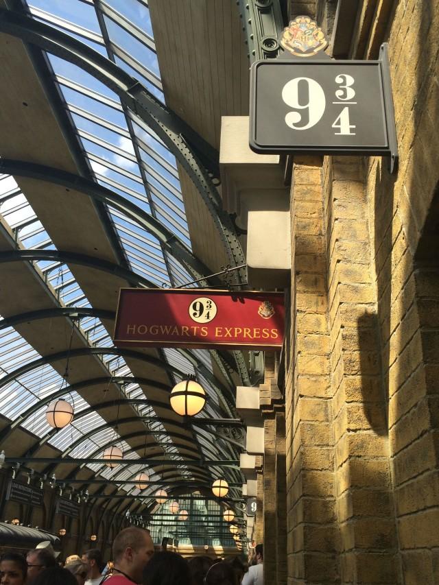 Platform 9 34 at Harry Potter World